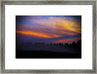 Framed Print featuring the photograph Colorful Sunset by Debra Crank
