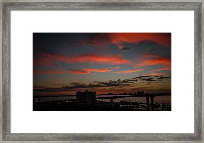 Framed Print featuring the photograph Colorful Sunset by Jane Luxton