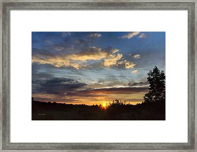 Colorful Sunset Landscape Framed Print by Christina Rollo