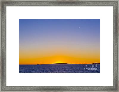 Colorful Sunset Traffic Framed Print by Christina Rahm