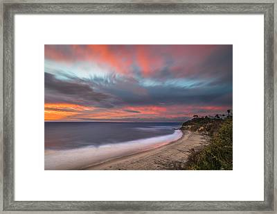 Colorful Swamis Sunset Framed Print by Larry Marshall