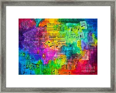 Colorful Symphony Framed Print