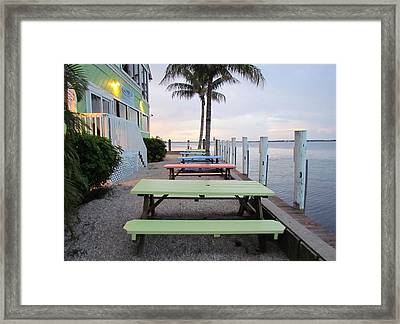 Framed Print featuring the photograph Colorful Tables by Cynthia Guinn