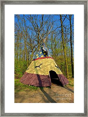 Colorful Teepee Framed Print by Martin Capek