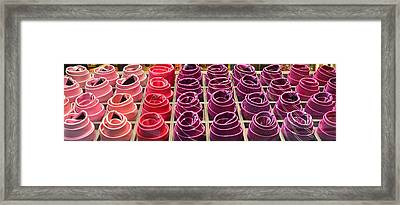 Colorful Ties Framed Print by Dany Lison