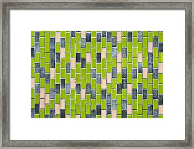 Colorful Tiles Framed Print by Tom Gowanlock