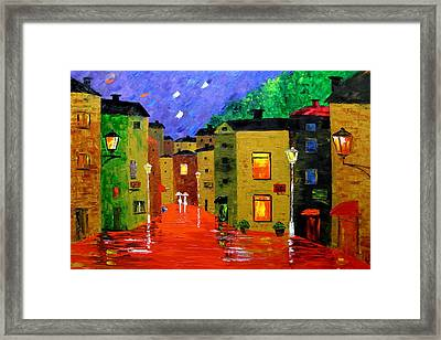 Colorful Town Framed Print by Mariana Stauffer