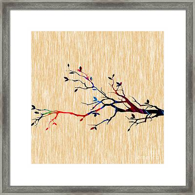 Colorful Tree Branch Framed Print