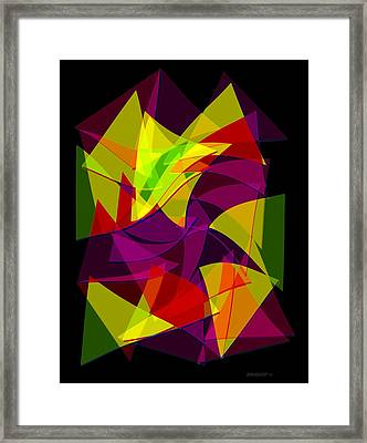 Colorful Triangles Geometric Art Designs Framed Print by Mario Perez