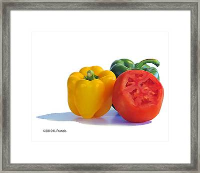 Colorful Trio Framed Print by Kenny Francis