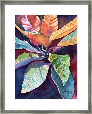 Colorful Tropical Leaves 3 Framed Print