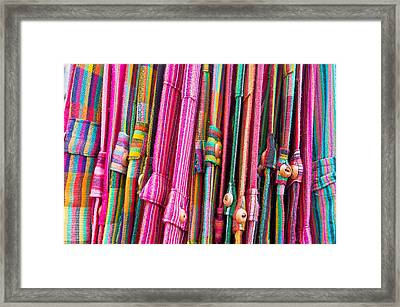 Colorful Trousers Framed Print by Tom Gowanlock