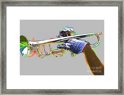 Colorful Trumpet Framed Print by Tom Gari Gallery-Three-Photography