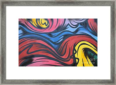 Framed Print featuring the photograph Colorful Urban Street Art From Singapore by Imran Ahmed