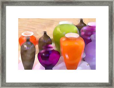 Colorful Vases I - Still Life Framed Print