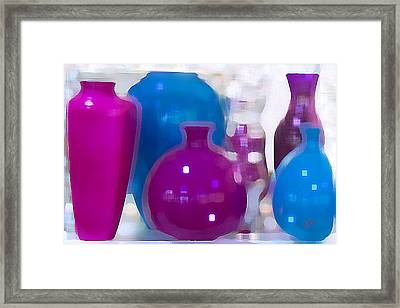 Colorful Vases II - Still Life Framed Print