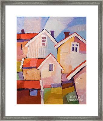 Colorful Village Framed Print by Lutz Baar