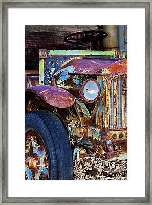 Colorful Vintage Car Framed Print