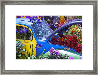 Colorful Vw Bug Framed Print