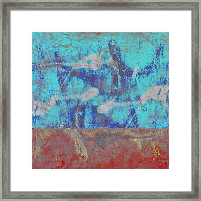 Colorful Walls Square Number 1 Framed Print by Carol Leigh
