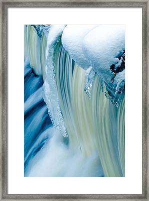 Colorful Waterfall Framed Print