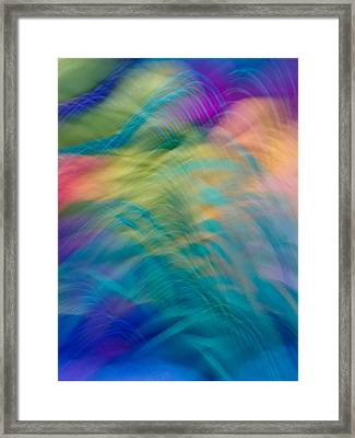 Colorful Waves Framed Print by Sylvia Herrington