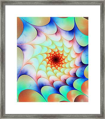 Colorful Web Framed Print by Anastasiya Malakhova