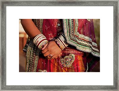 Colorful Wedding Costumes And Sari Framed Print