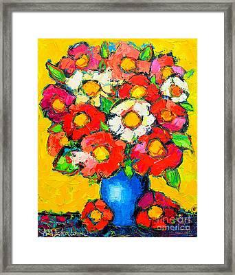 Colorful Wildflowers Framed Print by Ana Maria Edulescu