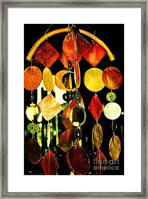 Colorful Wind Chime Framed Print