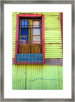 Colorful Window Framed Print by Jess Kraft
