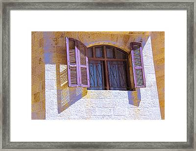 Colorful Window Shutters Framed Print by Ben and Raisa Gertsberg