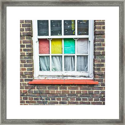 Colorful Window Framed Print by Tom Gowanlock