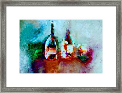 Framed Print featuring the painting Colorful Wine Serenade by Lisa Kaiser