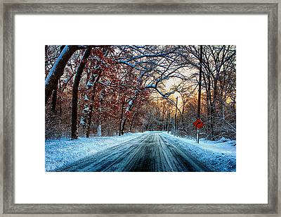 Colorful Winter Framed Print by Jerome Lynch