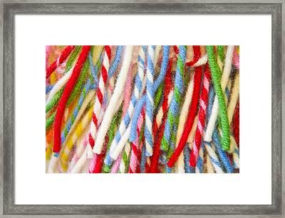 Colorful Wool Fibres Framed Print