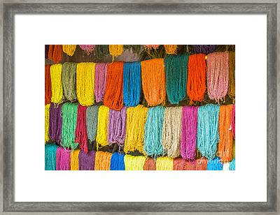 Colorful Wool Framed Print by Patricia Hofmeester