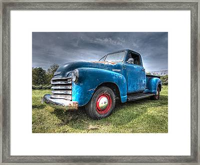 Colorful Workhorse - 1953 Chevy Truck Framed Print