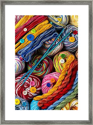 Colorful World Of Art And Craft Framed Print by Garry Gay