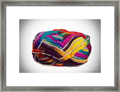 Colorful Yarn Framed Print