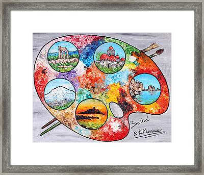 Colori Di Sicilia Framed Print by Loredana Messina