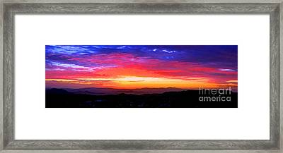 Colorific Sunset Framed Print