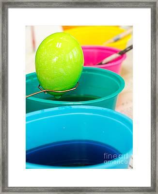 Coloring Easter Eggs Framed Print