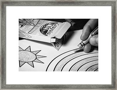 Coloring Without Color Framed Print