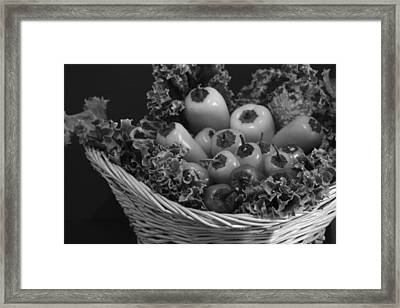Colorless Peppers Framed Print by Shweta Singh
