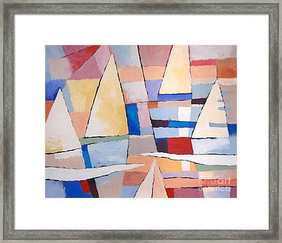 Colorplay At The Sea Framed Print