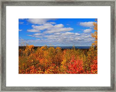Colors Above Lake Superior Framed Print by Rachel Cohen