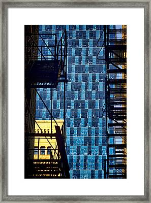 Colors And Architecture From The Alley Framed Print by Sven Brogren