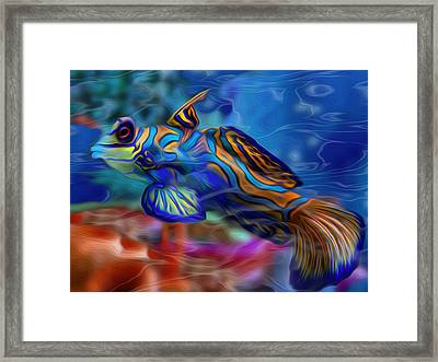 Colors Below 2 Framed Print