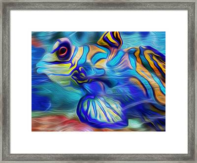 Colors Below Framed Print